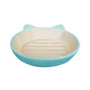 猫用食器 Pet rageous designs! イージーダイナーキャットディッシュ ライトブルー|petyafuupro