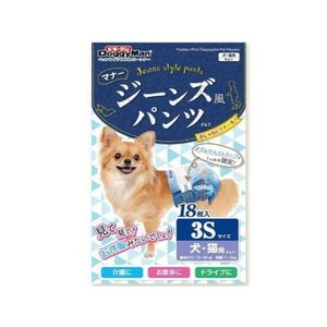犬用オムツ ドギーマン ジーンズ風パンツ 3S|petyafuupro