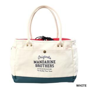 犬 キャリーバッグ マンダリンブラザーズ MINI CARRY BAG ホワイト MANDARINE BROTHERS|petyafuupro