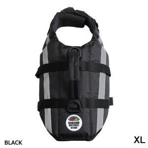 犬 ライフジャケット マンダリンブラザーズ LIFE JACKET ライフジャケット ブラック XLサイズ MANDARINE BROTHERS|petyafuupro