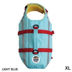 犬 ライフジャケット マンダリンブラザーズ LIFE JACKET ライフジャケット ライトブルー XLサイズ|petyafuupro