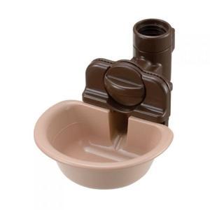 犬用給水器 リッチェル ウォーターディッシュ S ブラウン|petyafuupro