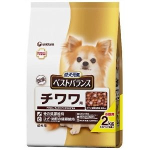【現品限り】愛犬元気 ベストバランス チワワ用 チキン・緑黄色野菜・玄米入り 2kg|petyafuupro