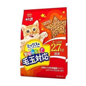 【現品限り】日本ペットフード ミオ毛玉対応ミックス味2.7kg|petyafuupro