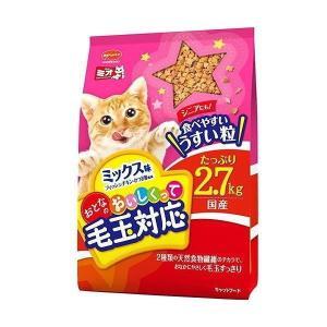 【現品限り】日本ペットフード ミオおとな毛玉対応ミックス味2.7kg|petyafuupro
