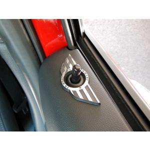 BMW MINI F54 ドアロックウイング (ブラックレーベル) 4pcs ミニクーパー クラブマン 内装パーツ