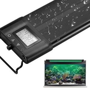Koval アクアリウムライト 30/45/60/75/90/120CM対応 7色LED 昼光と月光モード LCDディスプレイ 水槽ライト 調光&タイ pfgo