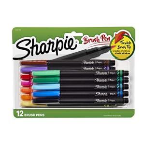 Sharpie ブラシチップペン アソートカラー 12本 pfgo