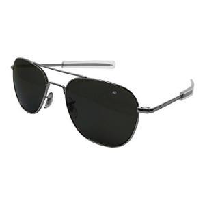 AO Eyewear アメリカンオプティカル ? オリジナル パイロット アビエイター サングラス バヨネットテンプルとシルバーフレーム トゥルーカラ pfgo