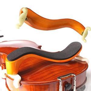 バイオリンショルダーレスト バイオリン肩当て 1/2 1/4 3/4 4/4 1/8 木製 柔らかい 厚いスポンジのクッション 滑り止め 弦楽器|pfgo