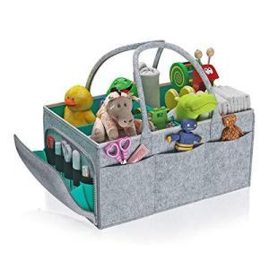 おむつストッカー ベビー用品 収納バッグ 仕切り 大容量 折りたたみ おむつ おもちゃ 小物入れ収納? 持ち運び便利 旅行 おかけ バスケット 赤ちゃ|pfgo