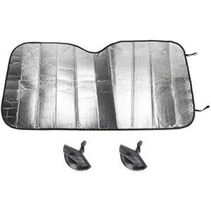 UNICREE 車用サンシェード 車フロント 紫外線からの保護 遮光 断熱 差しカット 1300 mm X 600 mm|pfgo