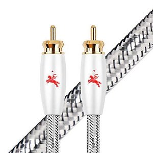 イタリアIMPETO ,ドイツ製造高音質 同軸ケーブルRCA(オス) to RCA(オス) オーディオケーブル/サブウーファー/アンプ/DVD/Blu|pfgo