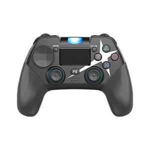 PS4 PC兼用 ワイヤレス コントローラー ブルートゥース接続 スゲームパッド 高耐久ボタン HD振動 ジャイロセンサー LEDライト タッチパッド|pfgo