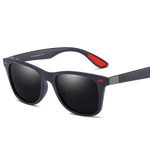 偏光レンズ MODELLING COMB サングラス メンズ UV400 (Black-Red) pfgo