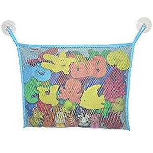 Angelcare おもちゃ収納袋 お風呂ハンモック 抗菌加工 収納ネット 水きりがよくてたっぷり収納 乳幼児 (紺碧)|pfgo