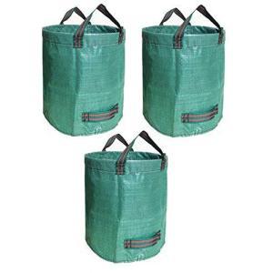 3パック272Lガーデンバッグガーデンバケットガーデニングバッグ、芝生プールガーデンリーフ廃棄物ごみ植物グラスバッグ|pfgo