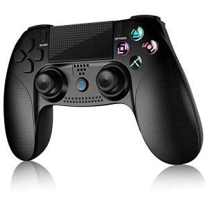 【2020年の最新版】PS4 コントローラー Bluetooth接続 Aerku 最新版システム対応 HD振動 重力感応 タッチボタン タッチパッド|pfgo