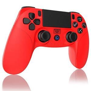 【2021年の最新版】PS4 コントローラー Bluetooth接続 Aerku 最新版システム対応 HD振動 重力感応 タッチボタン タッチパッド|pfgo