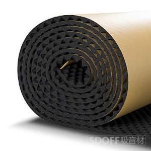 SDOFF 吸音材防音材防音シート 遮音シート壁 大面積 5M, 85cm×500cm ロール波型/ブラック裏面が粘着テープ付きなのでカットして簡単貼|pfgo