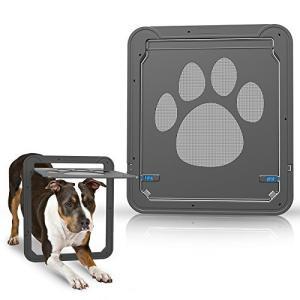 PETLESO 網戸ドア 網戸専用 犬猫出入り口 ペットドア 網戸ペット (中,大型犬用)30cm x 36cm pfgo
