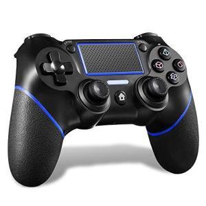 MAXKU PS4 コントローラー [2020最新版] 無線 Bluetooth接続 HD振動 連射 ジャイロセンサー ゲームパット搭載 高耐久ボタン|pfgo