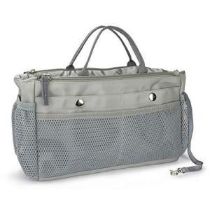15ポケット付きバッグインバッグ 小物整理インナーバッグ ナイロン防水トラベルポーチ 巾着アレンジケース 軽量トイレタリーバッグ 大容量収納バッグ (|pfgo
