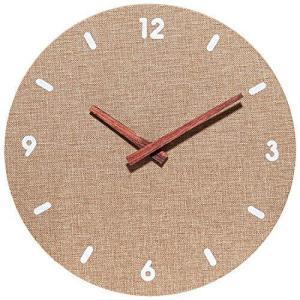 SUNVEN掛け時計 連続秒針静音 見やすい シンプルデザインリネンインテリア おしゃれ部屋装飾|pfgo
