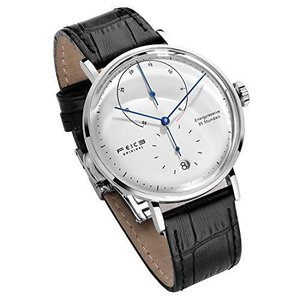 FEICE 腕時計 メンズ 自動巻き時計 防水 手巻付き ビジネス ステンレス 機械式とけい ウォッチ アナログ 牛革 シンプル バウハウス様式 メカ|pfgo