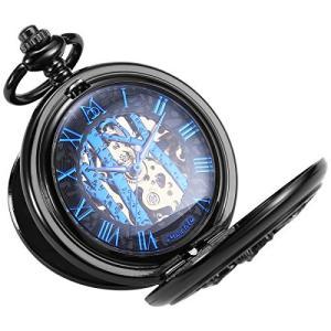 ManChda 機械式 手巻きメンズ 懐中時計 アンティーク レトロ 紳士|pfgo