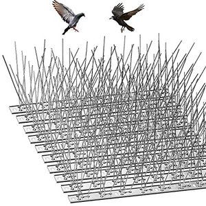 鳥よけ 鳩よけ ねこよけグッズ カラスよけ 10個セット全長3.3m 最新版 ステンレス製 剣山 防止・景観を損なわずハトなどの害鳥による被害を防ぐ pfgo