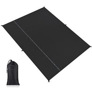 Yueranhu グランドシート テントシート キャンプ シート レジャーシート 防水 軽量 収納袋付き 登山 ピクニック マット (約195cm*2|pfgo