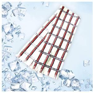 クールタオル 冷却タオル 接触冷感 クールマフラー 冷たいタオル 濡らさなくても冷たい チェック ネ...
