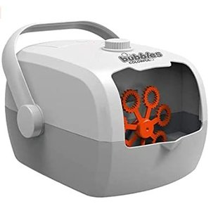 NAOMIN シャボン玉 バブルマシーン 電動シャボン シャボン玉製造機 泡製造機 自動 手動 (オレンジ) pfgo