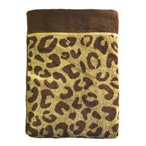 【天然素材】綿100% ひょう柄 タオルケット シングルサイズ ブラウン (140×190cm) pfgo