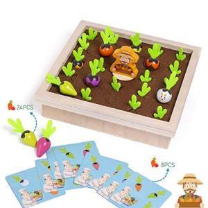 Ms.0 野菜 メモリーゲーム 記憶力 神経衰弱 絵あわせ 木のおもちゃ 子供向け おままごと ボードゲーム 知育玩具 pfgo