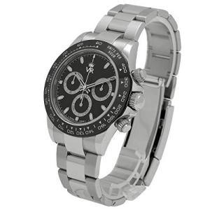ランダム番 VR メンズ 機械式 腕時計 SS 高級 防水 自動 自動巻き (王冠黒文字盤)|pfgo