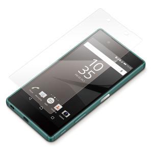 Xperia Z5用 液晶保護フィルム 衝撃吸収 光沢PG-X5SF04|pg-a