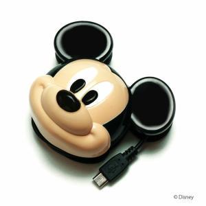 micro USB対応 ディズニーキャラクター ダイカットAC充電器 ミッキー PG-DNYAC010MKY|pg-a