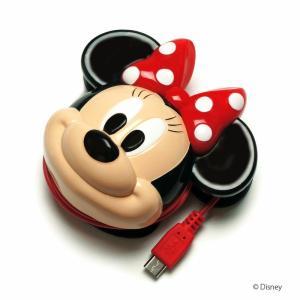 micro USB対応 ディズニーキャラクター ダイカットAC充電器 ミニー PG-DNYAC011MNE|pg-a