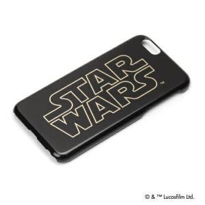 STAR WARS  スターウォーズ iPhone6 ハードケース 金箔押し ロゴ PG-DCS920SW pg-a