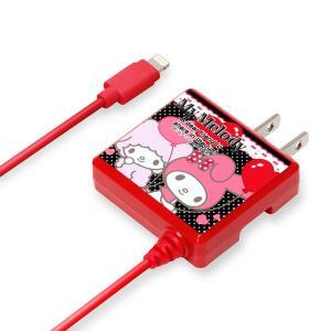 Apple MFi認証品 サンリオ Lightningコネクタ AC充電器 マイメロディ バルーンレッド PG-MYMMFI085RD|pg-a
