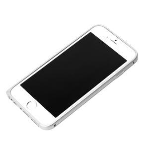 iPhone6 アルミバンパー シルバー PG-I6BP03SV|pg-a