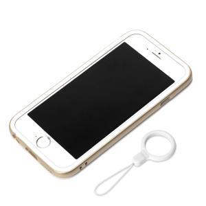 iPhone6 ハイブリッドバンパー リングストラップ付 ゴールド PG-I6BP07GD|pg-a