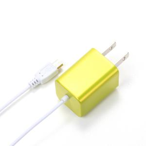 micro USB AC Charger イエロー PG-SPMUAC05YE|pg-a