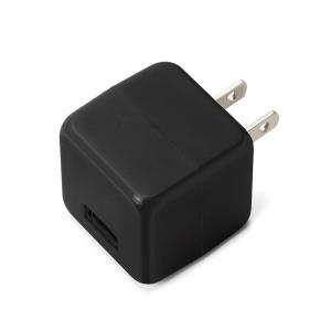 USB電源アダプタ 1ポート 2.1A キューブタイプ ブラックPG-UAC21A01BK pg-a
