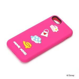 iPhone8・iPhone7 シリコンケース ミニーマウス PG-DCS144MNEアイフォン シリコン ミニー|pg-a