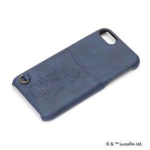 STARWARS  iPhone8・iPhone7 ハードケース ポケット付き R2-D2 PG-DCS155R2|pg-a