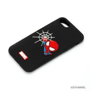 MARVEL マーベル iPhone8・iPhone7 シリコンケース スパイダーマン/ブラック PG-DCS158SPM|pg-a
