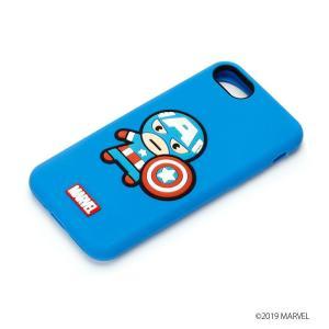 MARVEL マーベル iPhone8・iPhone7 シリコンケース キャプテン・アメリカ PG-DCS159CTA|pg-a